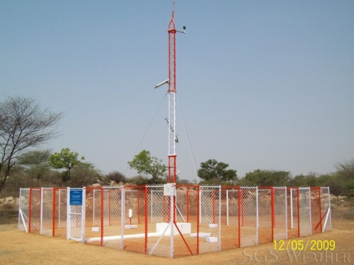 Automatic weather station Indian Met department installed by SGS Weather